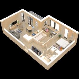 3 pokoje + aneks kuchenny