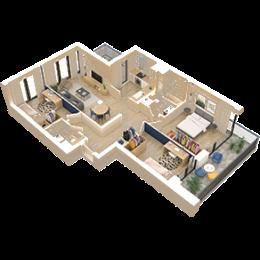 4 pokoje + kuchnia